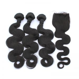 3 body wave bundles with closure virgin human hair 02