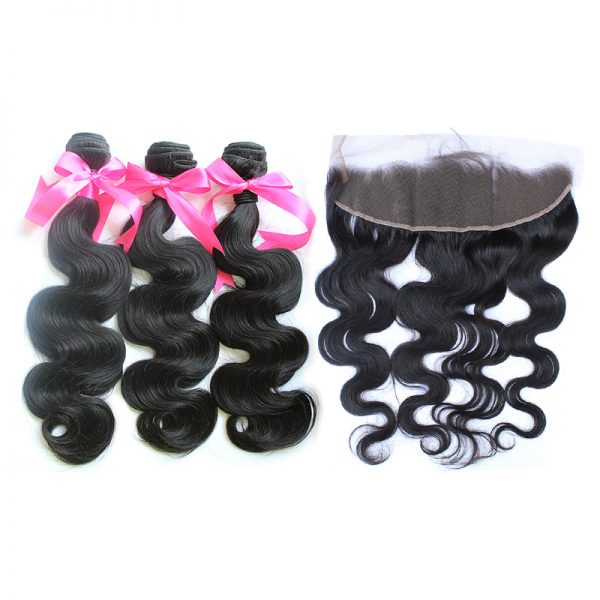 3 body wave bundles with frontal virgin human hair 01