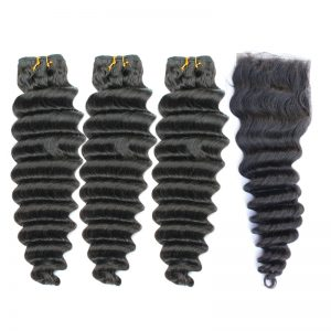 3 bundles with closure deep wave hair product 01