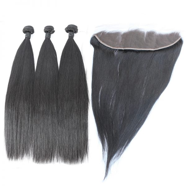 3 bundles with frontal straight hair product 01