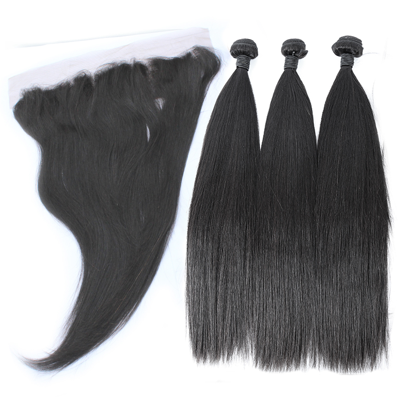 3 bundles with frontal straight hair product 02