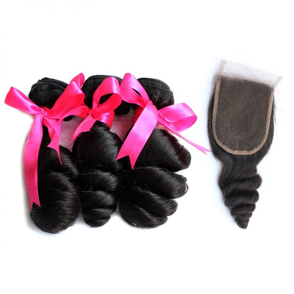 3 loose wave bundles with closure virgin human hair 02