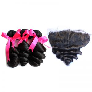3 loose wave bundles with frontal virgin human hair 02