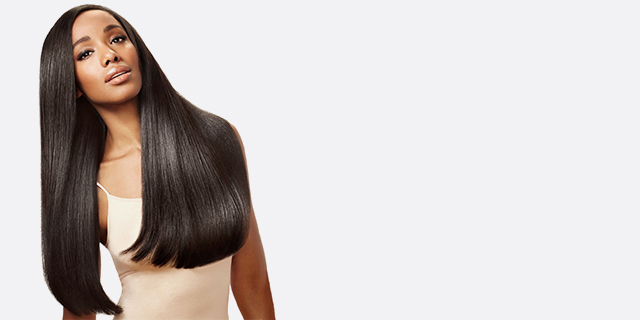 straight hair banner