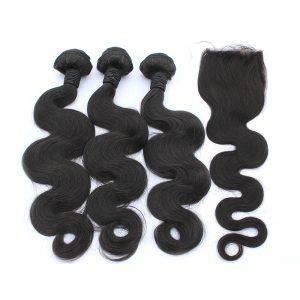 3 body wave bundles with closure virgin human hair 02
