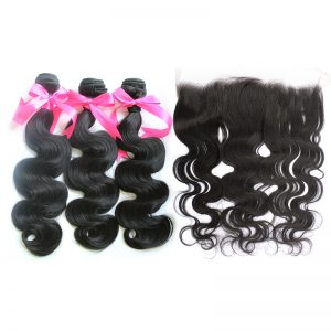 3 body wave bundles with frontal virgin human hair 02