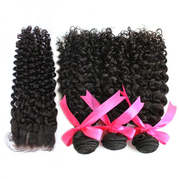 3 bundles with closure curly hair product 02