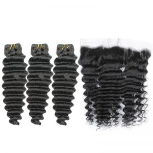 3 bundles with frontal deep wave hair product 01